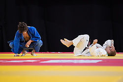 October 8, 2018 - Buenos Aires, ARGENTINA - 181009 2018 Youth Olympic Games, Day 3: Rhys Allen AUS and Mark Van Dijk NED during the Mens Repechage Second Round of 8 at the Asia Pavillion, Youth Olympic Park. The Youth Olympic Games, Buenos Aires, Argentina Monday 8th October 2018. Photo: Alex D'Addese for OIS/IOC. Handout image supplied by OIS/IOC  (Credit Image: © Alexander D'Addese For Ois/Bildbyran via ZUMA Press)