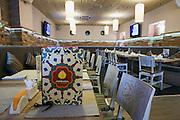 Moscow, Russia, 27/03/2012..The main dining hall inside the Uzbek Lepyoshka restaurant.