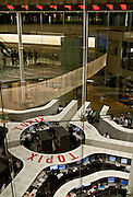 The distinctive trading floor of the Tokyo Stock Exchange, Nihonbashi, Tokyo, Wednesday, october 14th 2009. Established on May 15th 1878 the Tokyo Stock Exchange was one of the first stock exchanges in the world to fully computerize trading and now deals with over 700 trillion Yens worth of stock transaction annually, representing over 90 percent of all share dealings in the country