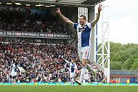 Football - Premier League - Blackburn Rovers vs. Manchester Utd<br /> Brett Emerton of Blackburn Rovers celebrates his opening goal at Ewood Park