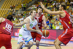Zoran Dragic of Slovenia during friendly match between National teams of Slovenia and Turkey for Eurobasket 2013 on August 4, 2013 in Arena Zlatorog, Celje, Slovenia. (Photo by Vid Ponikvar / Sportida.com)