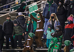 Dec 18, 2020; Huntington, West Virginia, USA; Marshall Thundering Herd fans cheer during the third quarter against the UAB Blazers at Joan C. Edwards Stadium. Mandatory Credit: Ben Queen-USA TODAY Sports
