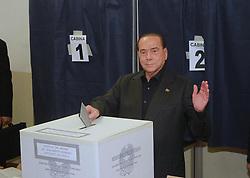 Italy, Milan - May 26, 2019.Silvio Berlusconi votes for the European Parliament elections (Credit Image: © Cattaneo/Fotogramma/Ropi via ZUMA Press)