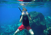 Snorkeling, Hawaii, USA<br />