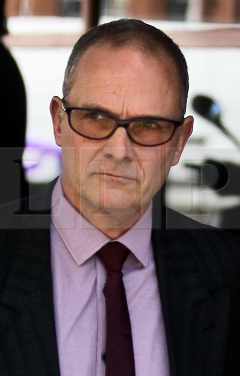 © Licensed to London News Pictures. 22/05/2012. London. Britain. Police officer Alex MacFarlane leaves Westminster Magistrate`s Court today 22 May 2012. Pc Alex MacFarlane appeared before magistrates accused of harassing 21-year-old Mauro Demetrio.<br /> Photo credit : Thomas Campean/LNP