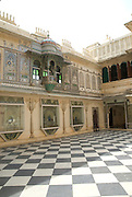 India, Rajasthan, Udaipur Interior of the City Palace Museum