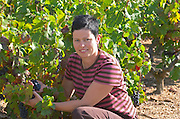 Cathy Lathuiliere, owner winemaker. Domaine Gravallon Lathuiliere, Morgon, Beaujolais, France