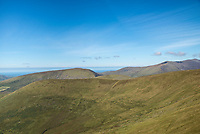 The West coast of Ireland: The hills of the Dingle peninsula looking west, Kerry, Ireland.
