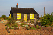 Prospect Cottage on a beautiful sunny mid summer morning, made famous by film maker Derek Jarman who found inspiration at Dungeness, where he created a shingle garden made from debris he found on the beaches of Dungeness, Kent, United Kingdom on the 13th of August 2020.  (photo by Andrew Aitchison / In pictures via Getty Images)