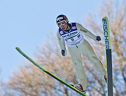 05.02.2011, Heini Klopfer Skiflugschanze, Oberstdorf, GER, FIS World Cup, Ski Jumping, Probedurchgang, im Bild Sebastian Colloredo (ITA) , during ski jump at the ski jumping world cup Trail round in Oberstdorf, Germany on 05/02/2011, EXPA Pictures © 2011, PhotoCredit: EXPA/ P. Rinderer
