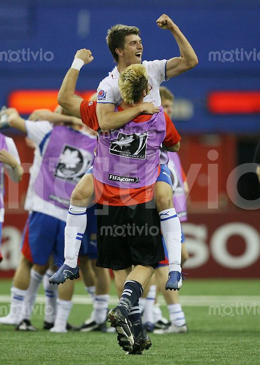 Fussball International U 20 WM  Tschechien 2-1 Panama JUBEL CZE; Ludek Frydryc (unten) und Ondrej Kudela