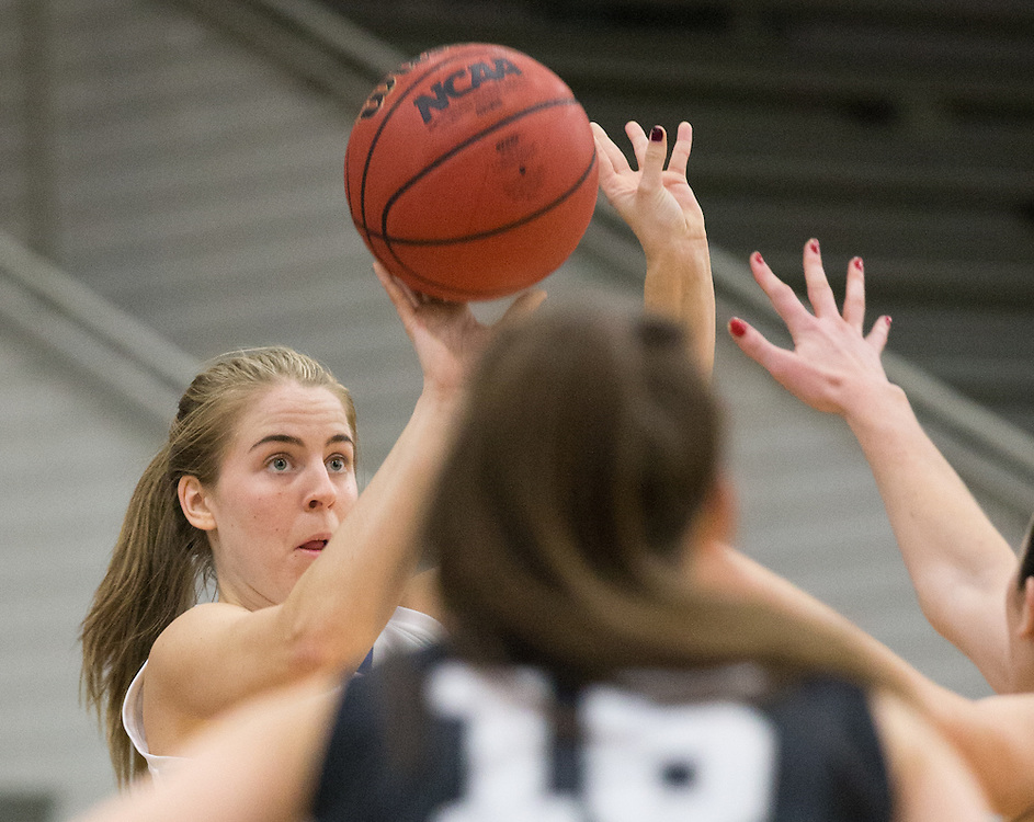 Brooke Chandor, of Colby College, in a NCAA Division III basketball game against Bowdoin College on December 6, 2014 in Waterville, ME. (Dustin Satloff/Colby College Athletics)