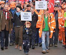 Bi Fab workers march on Scottish Parliament   Edinburgh   16 November 2017.