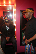 l to r:  Talib Kweli and Mos Def at The Black Star Concert presented by BlackSmith and Live N Direct held at The Nokia Theater in New York City on May 30, 2009