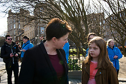Pictured: Ruth Davidson and Caitlin Batho (15)<br /> <br /> Scottish Conservative leader Ruth Davidson visited Stockbridge in Edinburgh today as she continues o the campaign trail.<br /> <br /> Ger Harley   EEm 25 March 2016