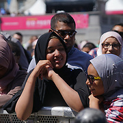 Trafalgar Square, London, UK, 1st July 2017.  Hundreds attend the Eid Festival celebrate the end of Ramadan with lives preforms, food and culture explore with honorable guest Sadiq Khan the Mayor of London.