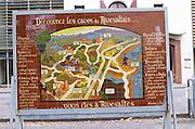 Map. Rivesaltes town, Roussillon, France