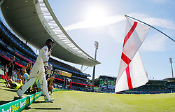 England's Moeen Ali takes the field during day two of the Ashes Test match at Sydney Cricket Ground.