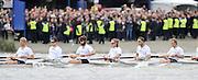 Putney- Mortlake, LONDON, GREAT BRITAIN,  Cambridges' right to left; 3. Jack LINDEMAN, 4. Alex ROSS , 5. Michael THORP, 6. Steve DUDEK, 7 Alexander SCHARP, Stk. Niles GARRETT in the open minutes of the . 2012 Boat Race, Oxford University vs Cambridge University. Raced over the championship course. Putney/Mortlake, Saturday  07/04/2012  [Mandatory Credit, Peter Spurrier/Intersport-images]..Crews:.OUBC. Bow Dr. Alexander WOODS, 2. William ZENG, 3. Kevin BAUM, 4. Alex DAVIDSON,5. Karl HUDSPITH, 6. Dr. Hanno WIENHAUSEN, 7. Dan HARVEY, Stk. Roel HAEN, Cox. Zoe DE TOLEDO...CUBC. Bow. David NELSON, 2. Moritz SCHRAMM, 3. Jack LINDEMAN, 4. Alex ROSS , 5.Michael THORP, 6. Steve DUDEK, 7 Alexander SCHARP, Stk. Niles GARRETT . Cox. Ed BOSSON .