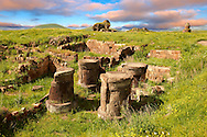 Ruins of a Zoroastrian Fire Temple at Ani archaelogical site on the Ancient Silk Road , Kars , Anatolia, Turkey .<br /> <br /> If you prefer to buy from our ALAMY PHOTO LIBRARY  Collection visit : https://www.alamy.com/portfolio/paul-williams-funkystock/ani-turkey.html<br /> <br /> Visit our TURKEY PHOTO COLLECTIONS for more photos to download or buy as wall art prints https://funkystock.photoshelter.com/gallery-collection/3f-Pictures-of-Turkey-Turkey-Photos-Images-Fotos/C0000U.hJWkZxAbg