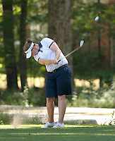 Lisa Ferrero drives the ball Thurday afternoon during the LPGA Futures Tour at Beaver Meadow Golf Course.  (Karen Bobotas/for the Concord Monitor)