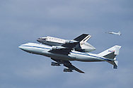 04-17-12: Space Shuttle Discovery on it's way to the Udvar-Hazy Center in Dulles, Va. The shuttle did a couple of low-level passes of D.C. before finally landing at Dulles International Airport.