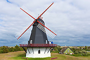 Sonderho Molle windmill for wind energy on Fano Island - Fanoe - South Jutland, Denmark