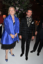 COUNT & COUNTESS della GHERARDESCA at a dinner hosted by Cartier following the following the opening of the Chelsea Flower Show 2012 held at Battersea Power Station, London on 21st May 2012.