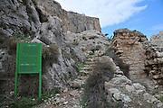 Israel, Jordan Valley, Wadi Qelt (Wadi Perat) Remains of the Faran Monastery established in the 4th century