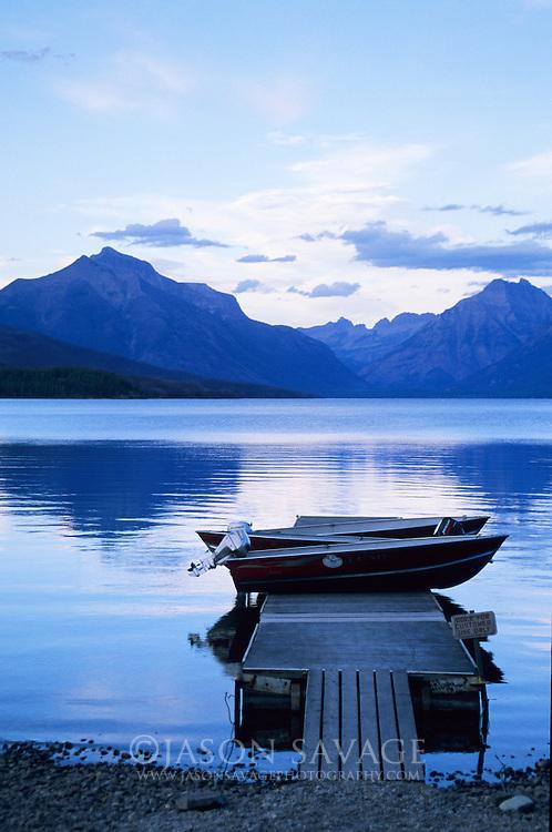 Boat Dock on Lake McDonald