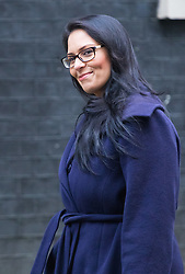 Downing Street, London, February 7th 2017. International Development Secretary Priti Patel arrives in Downing Street for the weekly UK cabinet meeting.