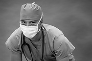Male Emergency Room Doctor photographed on seamless in a studio Male Emergency Room doctor photographed in a studio