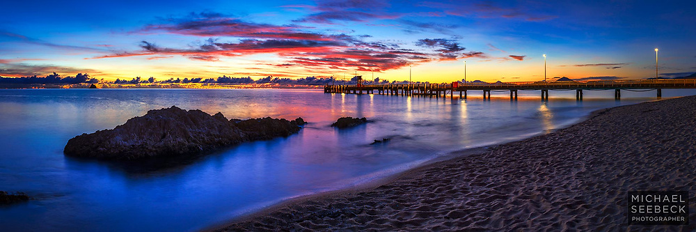 Peaceful Dawn evolving over Palm Cove Jetty and Beach.<br /> <br /> Limited Edition of 125