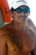 Lobster tatoo, Huahine, French Polynesia