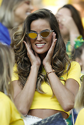 Number One top model of Brasil Izabel Goulart during the 2018 FIFA World Cup Russia game, Brazil vs Serbia in Spartak Stadium, Moscow, Russia on June 27, 2018. Brasil won 2-0. Photo by Henri Szwarc/ABACAPRESS.COM