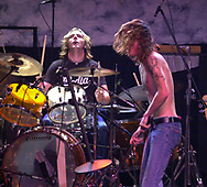 Members of Silvertide perform at the TLA, Thursday, June 27, 2002, in Philadelphia. (©2002 William Thomas Cain)