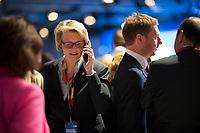 DEU, Deutschland, Germany, Berlin,26.02.2018: Anja Karliczek (CDU), designierte Bundesbildungsministerin, beim Parteitag der CDU in der Station. Die Delegierten stimmten mit großer Mehrheit für die Neuauflage der Großen Koalition (GroKo).