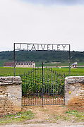 Vineyard. Domaine J Faiveley. Chateau du Clos de Vougeot. Cote de Nuits, d'Or, Burgundy, France