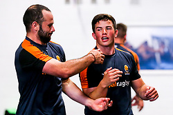 Will Butler and Jono Lance of Worcester Warriors during preseason training ahead of the 2019/20 Gallagher Premiership Rugby season - Mandatory by-line: Robbie Stephenson/JMP - 06/08/2019 - RUGBY - Sixways Stadium - Worcester, England - Worcester Warriors Preseason Training 2019
