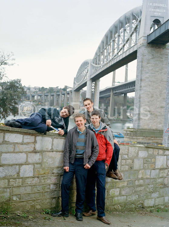 Team Pulse: (Andrew Lees, 16; Thomas Simpson, 17, John Ware, 16, and Samuel Wood, 16.) and 1200 other students of Devonport High school are taught in the shadow of The Royal Albert Bridge, (shown in background), Brunel's 1859 Engineering masterpiece. These students, not to be outdone competed in Malaysia against thirty other teams and twenty-five countries to become world champions of 'F1 in Schools' winning scholarships to a top  London university, a chance to meet Bernie Ecclestone, Lewis Hamilton and to compete with the F1's boffins behind world champs Ferrari:  a race, which, of course they won. The competition primarily