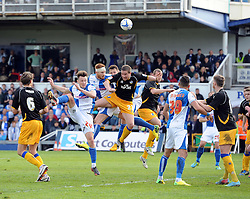 Bristol Rovers' Matt Harrold goes close with a header - Photo mandatory by-line: Joe Meredith/JMP - Mobile: 07966 386802 03/05/2014 - SPORT - FOOTBALL - Bristol - Memorial Stadium - Bristol Rovers v Mansfield - Sky Bet League Two