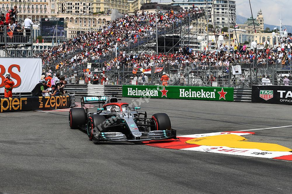 Lewis Hamilton (Mercedes) during qualifying before the 2019 Monaco Grand Prix. Photo: Grand Prix Photo