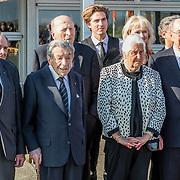NLD/Katwijk/20170403 - 100ste geboortedag Erik Hazelhoff Roelfzema, partner Karin Hazelhoff Roelfzema en de 5 overgebleven Engelandvaarders