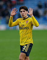 Football - 2019 / 2020 Premier League - Burnley vs. Arsenal<br /> <br /> Hector Bellerín of Arsenal applauds the Arsenal travelling support at the final whistle, at Turf Moor.<br /> <br /> <br /> COLORSPORT/ALAN MARTIN