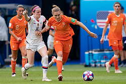 07-07-2019 FRA: Final USA - Netherlands, Lyon<br /> FIFA Women's World Cup France final match between United States of America and Netherlands at Parc Olympique Lyonnais. USA won 2-0 / Rose Lavelle #16 of the United States, Vivianne Miedema #9 of the Netherlands