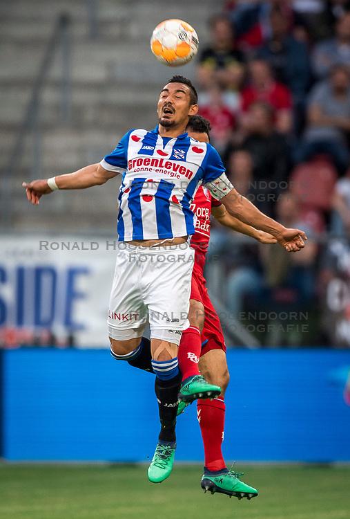 12-05-2018 NED: FC Utrecht - Heerenveen, Utrecht<br /> FC Utrecht win second match play off with 2-1 against Heerenveen and goes to the final play off / Reza Ghoochannejhad #9 of SC Heerenveen