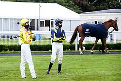 Jockey's Charles Bishop and Hector Crouch - Mandatory by-line: Robbie Stephenson/JMP - 19/08/2020 - HORSE RACING - Bath Racecourse - Bath, England - Bath Races