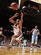 Virginia's Lyndra Littles reaches for the loose ball during the game against UNC  February 27, 2008.