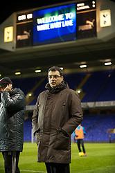 LONDON, ENGLAND - Wednesday, February 1, 2012: Liverpool's Director of Football Strategy Damien Comolli before the NextGen Series Quarter-Final match against Tottenham Hotspur at White Hart Lane. (Pic by David Rawcliffe/Propaganda)