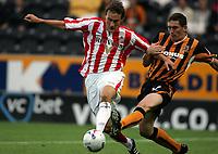 Fotball<br /> England 2005/2006<br /> Foto: imago/Digitalsport<br /> NORWAY ONLY<br /> <br /> 27.07.2005<br /> <br /> Dean Whitehead (Sunderland, li.) gegen Keith Andrews (Hull)